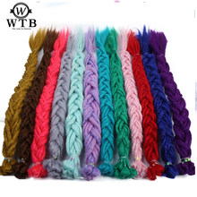 WTB Dreadlocks Extensions Synthetic Blonde Dreads 20 inch Fashion Crochet Braids Hair Hip-Hop Synthetic Braiding Hair(China)