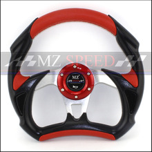 car 13 inches 320MM Aluminum+PVC  Silver yellow red blueSport steering wheel racing type High quality universal