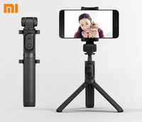 100 Original Xiaomi Bluetooth Monopod Mi Foldable Selfie Stick Tripod Wireless Selfiestick Phone Selfie Stick Drop