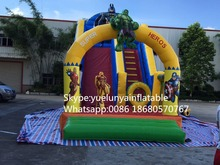 2016 new Factory direct Inflatable slide,Spider - Man Slide.Superman slide  KY-109