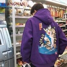 KUANGNAN Harajuku Style Thick Japanese Streetwear Hip Hop Men Clothes 2018 Hoody