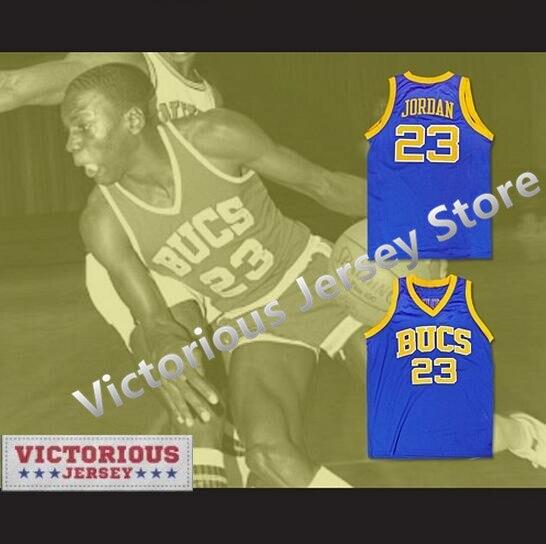 info for 1c4b4 84313 R$ 152.94  Michael Jordan 23 Laney High School de Minanser Buccaneers  Camisa De Basquete Dos Homens Azuis em Basquete Jerseys de Sports & ...