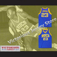 8df444c423eded Minanser Michael Jordan 23 Laney High School Buccaneers Basketball Jersey  Blue Men