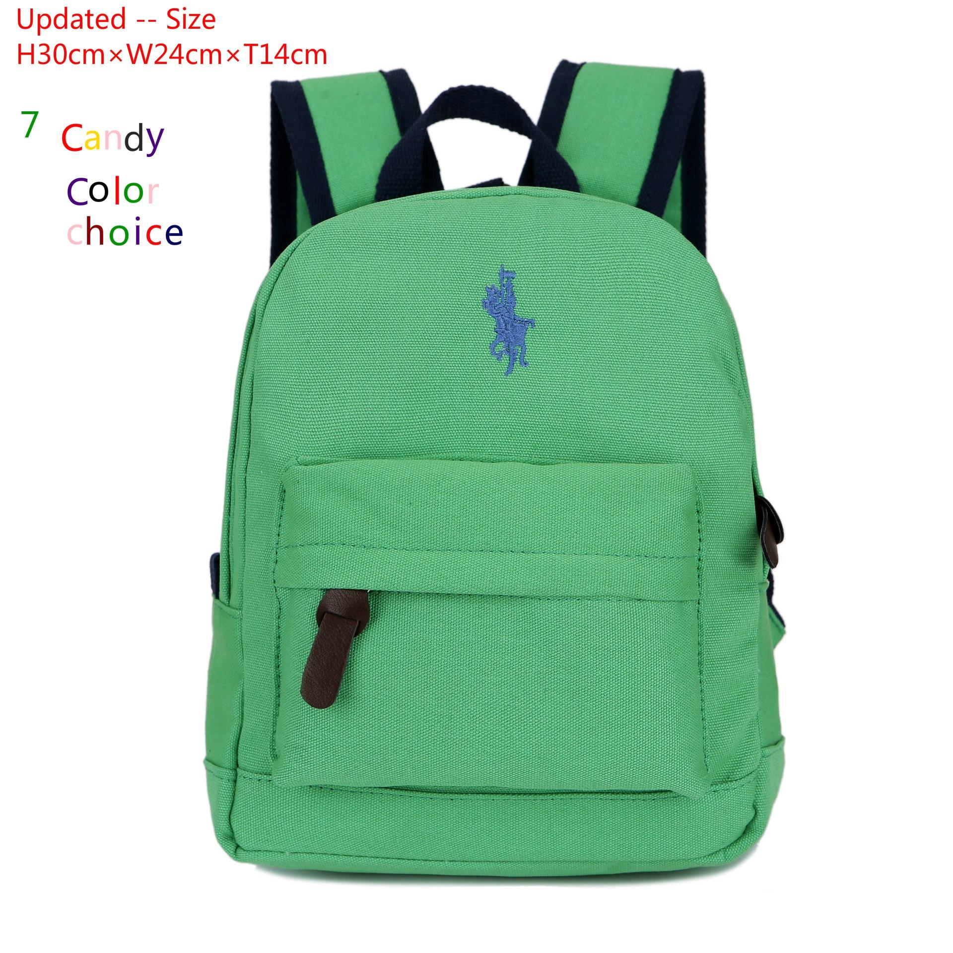 2017 High Quality Polo Baby Girl Backpack Cotton Canvas Small Backpacks Kindergarten Mochila Escolar Menino School Bags