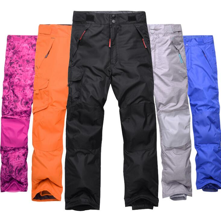 2018 New Winter Warm Breathable Waterproof Winderproof Snowboard Pant Pantalones Snowboard Hombre Candy Color Outdoor Pant ...