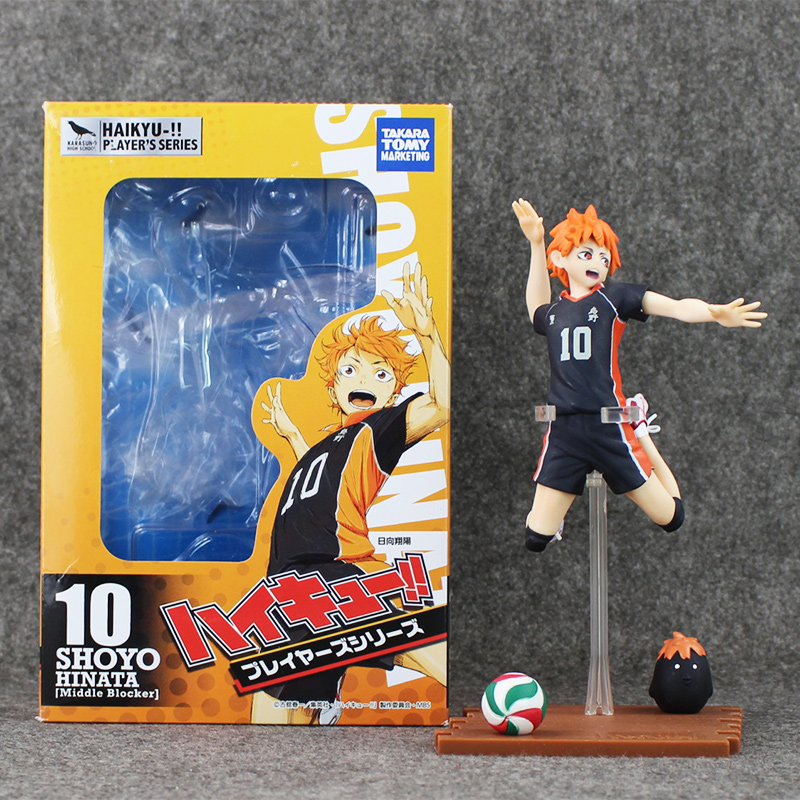 6 14cm Haikyuu!! Shoyo Hinata Shyouyou Jump Version PVC Action Figure Collectible Model Toy In Box Birthday Gift for Kids 24cm pvc deadpool action figure breaking the fourth wall scene dead pool kids birthday christmas model gift toys