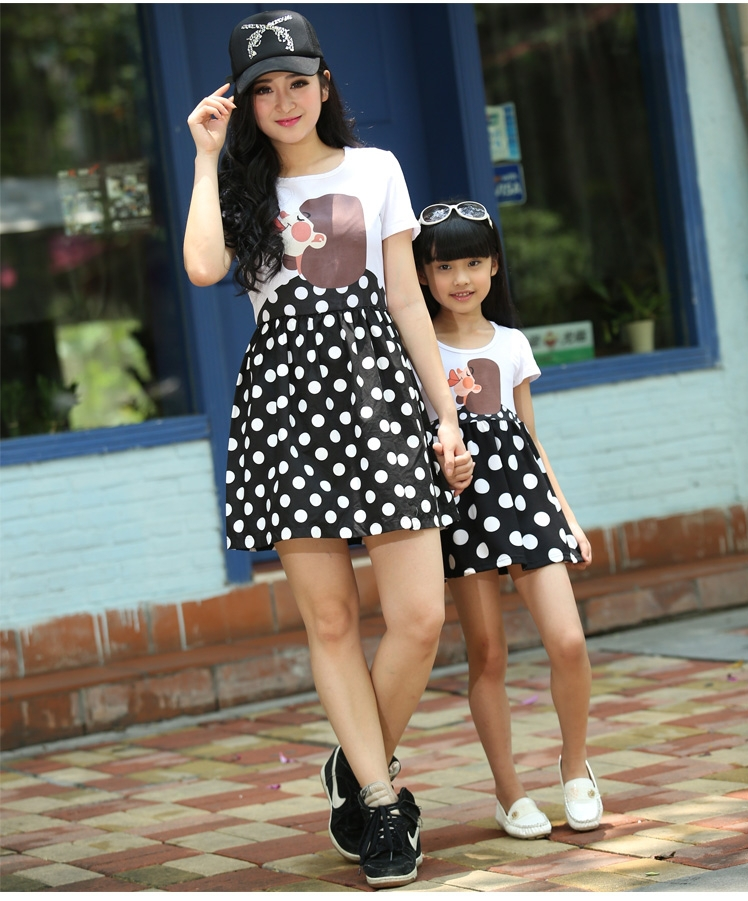31ffbf5c1fc FAMILY 2015 New Fashion Mother and Daughter Dresses