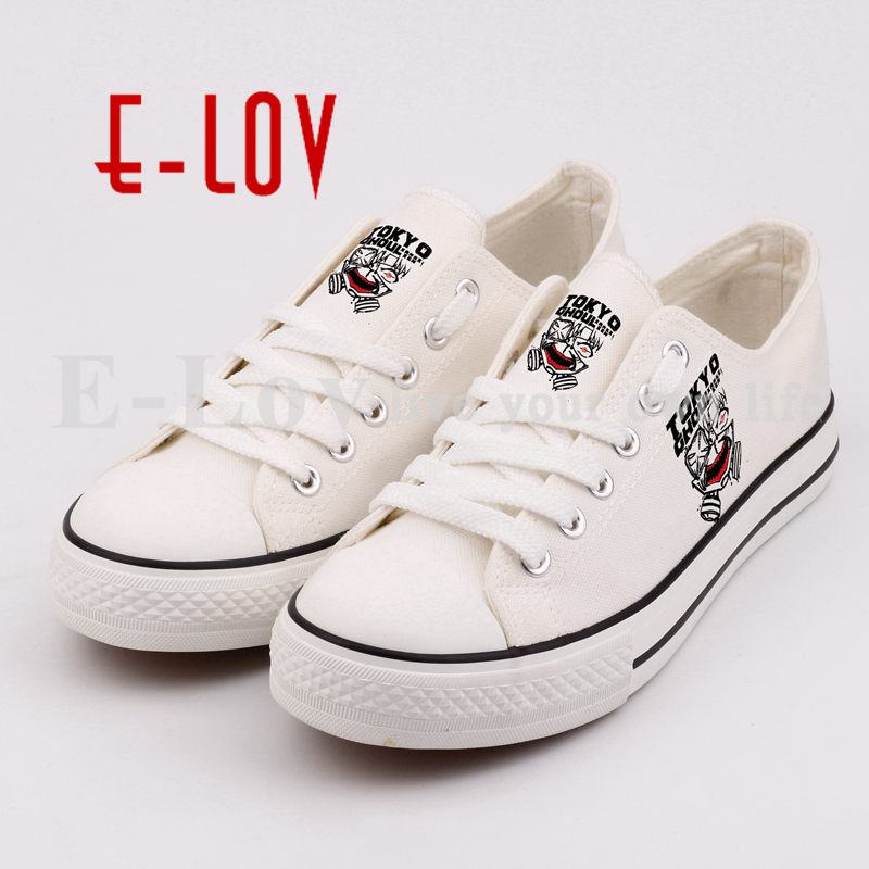 E-LOV Graffiti Printing The Anime Figure Canvas Shoes Hip Hop Unisex Casual Flat Shoes Sapatos printed assassins creed canvas shoes fashion design hip hop streetwear unisex casual shoes graffiti women flat shoe sapatos