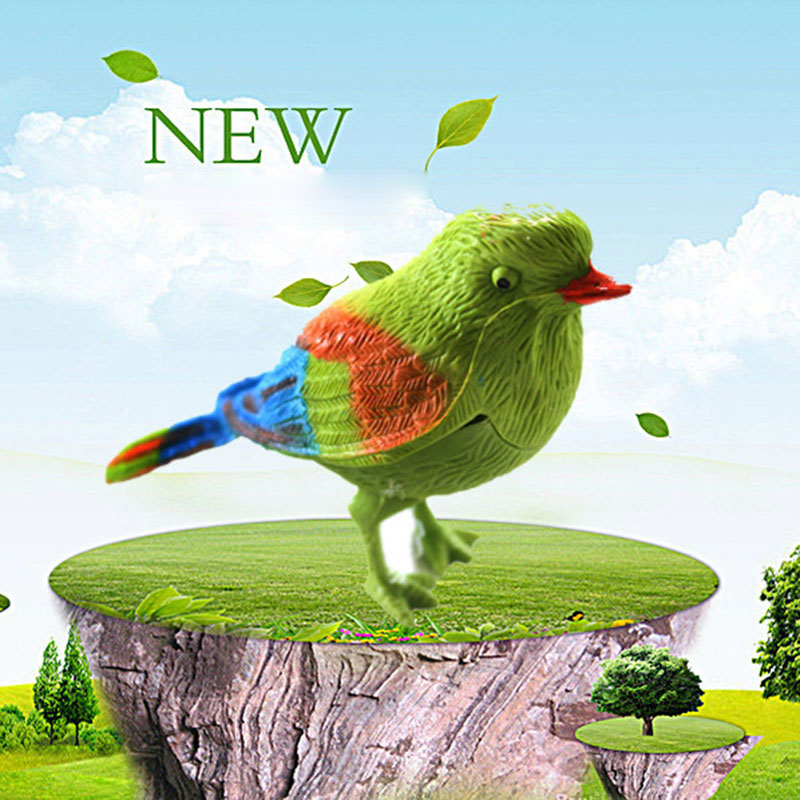 Funny Voice-activated Toy Bird Electronic Pet Bird Toys Sound-sensing Kids Voice-controlled Parrot Educational Toys Gift