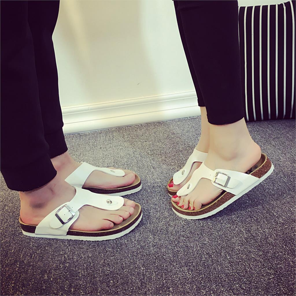 Summer couple slippers 2019 new Anti-skid cork slippers Flat slippers beach sandals women sandals 35-44Summer couple slippers 2019 new Anti-skid cork slippers Flat slippers beach sandals women sandals 35-44