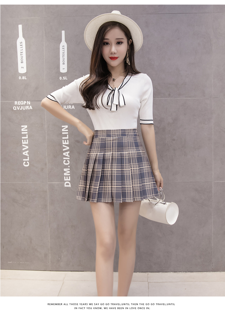 XS-3XL Women Skirt Preppy Style High Waist Chic Stitching Skirts Summer Student Pleated Skirt Women Cute Sweet Girls Dance Skirt 27