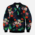 2016 New Autumn/Winter Fashion Mens/Womens Personality Cannabina Flower Printing 3D Casual Jackets Sportswear Coat