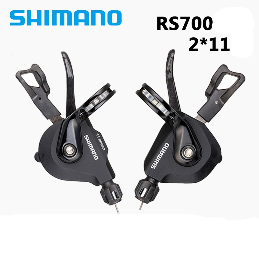 SHIMANO SL RS700 11S Speed Trigger Shift Lever Flat Handle Bar Component Road Bicycle Cycling Parts shimano 105 5800 dual control lever shift lever 2 11s 22s derailleurs road bicycle for tour and relaxing bike components parts