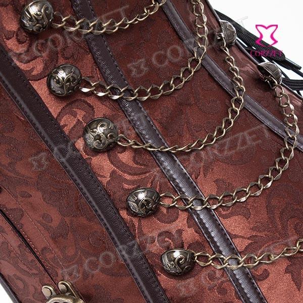 שחור המותניים מאמן המחוך ספירלת פלדה עצמות מחוך Steampunk בגדים בתוספת גודל 6XL נשים Corpetes e espartilhos Corselet