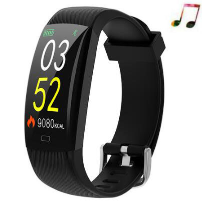 F64C Smart wristband Heart rate gelang pintar Mp3 Fitness Tracker Smart band untuk IOS android PK xiaomi mi band 3 Pk band penghormatan
