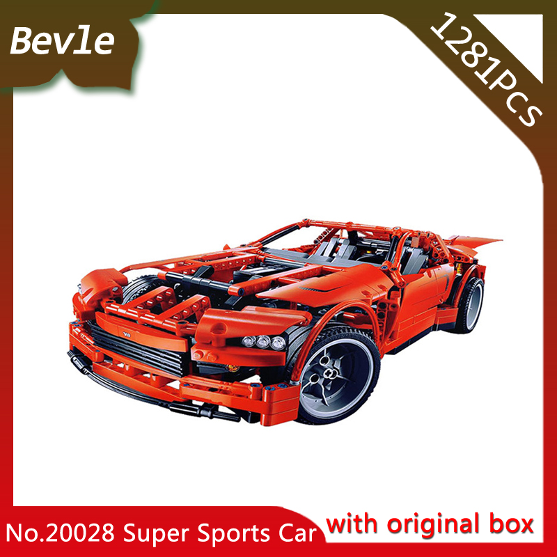 ФОТО Bevle Store LEPIN 20028 1281Pcs with original box Technic Series Super Muscle Sports Car Building Blocks For Children Toys 8087