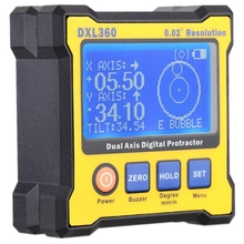 Digital Angle Protractor, Dxl360 Dual Axis Digital Angle Finder With 5 Side Magnetic Base High-Precision Inclinometer 50-60Hz недорого