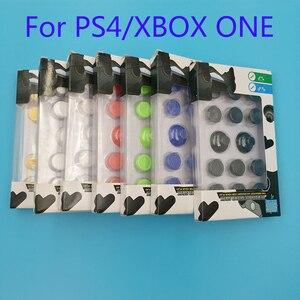 Image 1 - 14 in 1 Thumb çubuk Joystick Kap Sapları PS4 Denetleyici Siyah Perakende kutu ambalaj Ile XBOX ONE Için Analog joystick Sapları Kapaklar