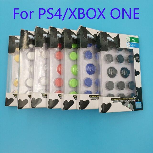 14 in 1 Thumb çubuk Joystick Kap Sapları PS4 Denetleyici Siyah Perakende kutu ambalaj Ile XBOX ONE Için Analog joystick Sapları Kapaklar