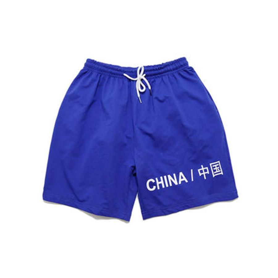 Rouge Sweat Couple Shorts homme Hip Hop noir taille haute Shorts lâche hommes gymnases courte Praia Bermudas Hombre hommes survêtement 40XD033