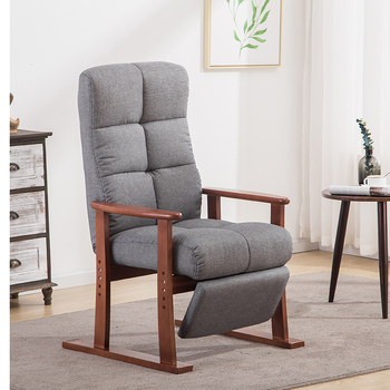 Modern Living Room Chair And Ottoman Fabric Upholstery Furniture Bedroom Lounge Reclining Armchair with Footstool Accent Chair mid century modern style armchair sofa chair legs wooden linen upholstery living room furniture bedroom arm chair accent chair
