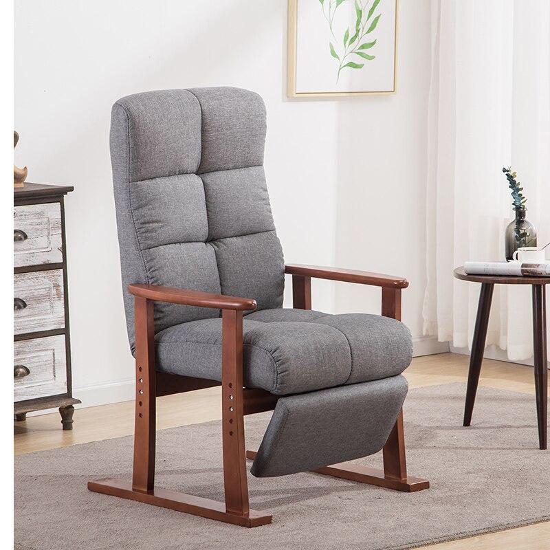 Moderne Salon Chaise Et Pouf Tissu D'ameublement Meubles Chambre Salon Inclinable Fauteuil avec Repose-pieds Chaise D'appoint