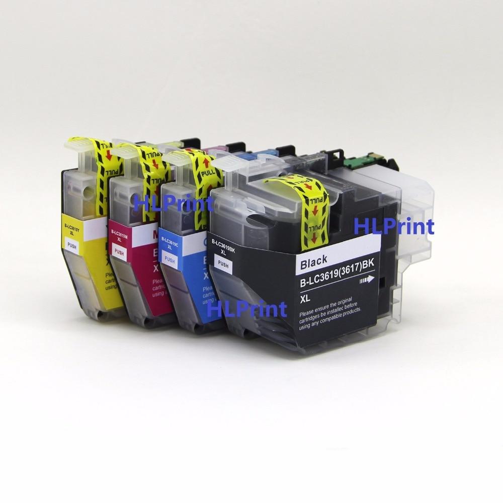 Pigment ink 4pcs Compatible ink cartridge Brother LC3619 XXL for MFC-J2330DW MFC-J2730DW MFC-J3530DW MFC-J3930DW refillable ink cartridge and chip lc201 lc 201 for brother mfc j460dw mfc j480dw mfc j485dw mfc j680dw mfc j880dw mfc j885dw