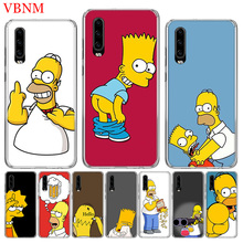 Funny Homer J. Simpson Trend Phone Case For Huawei P8 P9 P10 Lite P20 P30 Pro P Smart Nova 4 Art Patterned Customized Cases