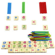 1 Set Children Wooden Numbers Stick Math Toy Mathematics Early Learning Counting Educational Toys for Children Kids Gift