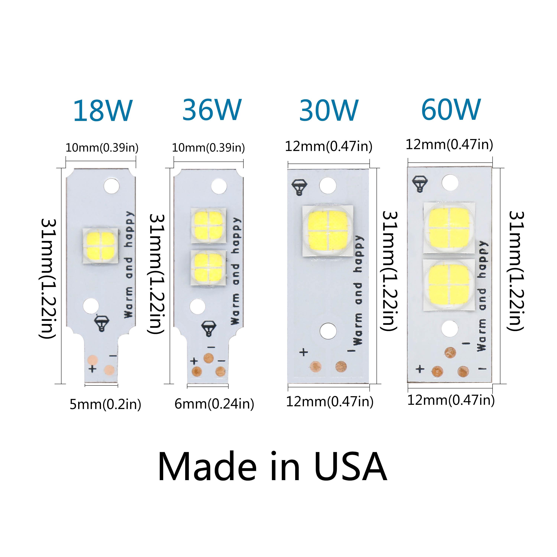Full Power LED Light DIY Original LED CREE XHP50 XHP70 15W ...