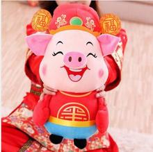 WYZHY New Year Gift Pig Mascot Fortuna Doll Plush Toys Send Friends Gifts40cm