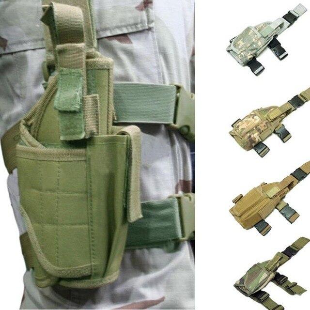Universal Nylon Military Tactical Hunting Drop Leg Thigh glock Gun Holster Mag Pouch