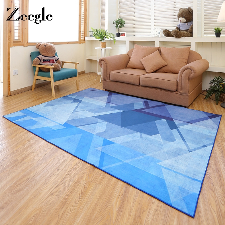 Zeegle Nordic Style Carpet Floor Mat Home Rug Bedroom Carpet Sofa Coffee Table Rug Study Mat Kids Crawling Anti-Slip Rugs