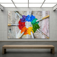 HDARTISAN Wall Art Pictures Brushed and Oil Paint Canvas Painting For Living Room Home Decor No Frame(China)