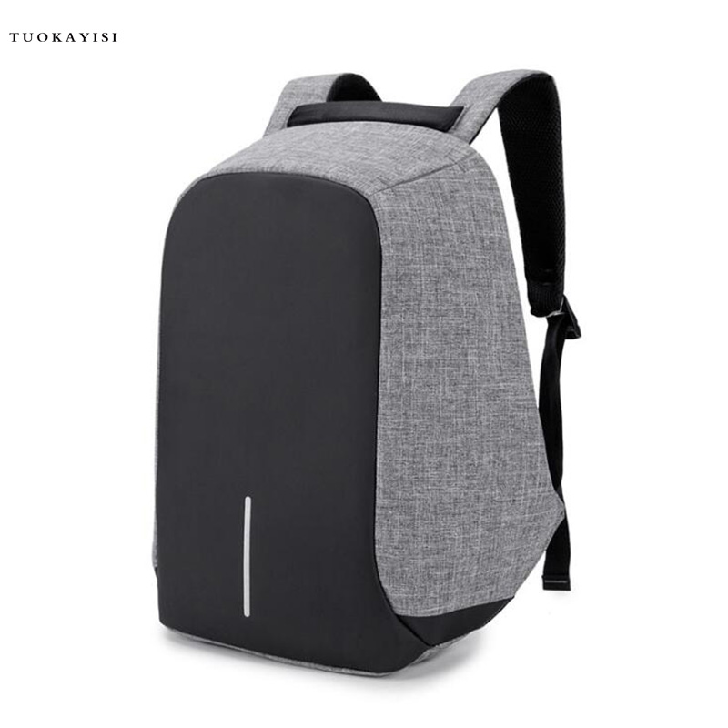 2018 new 15 inch Laptop Backpack USB Charging Anti Theft Backpack Men Travel Backpack Waterproof School Bag Male Mochila ozuko new 15 6 inch laptop bag usb charging anti thief backpack men s casual school bag waterproof large capacity travel mochila