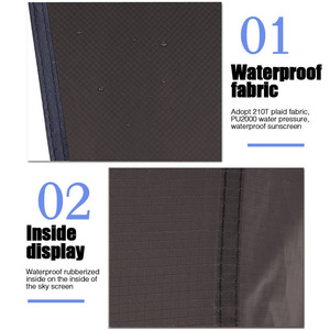 Image 2 - Ultralight กลางแจ้งเปลญวนแบบพกพากันสาดแขวนเต็นท์สวมใส่อเนกประสงค์อเนกประสงค์ขนาดใหญ่พับ UV กันน้ำ