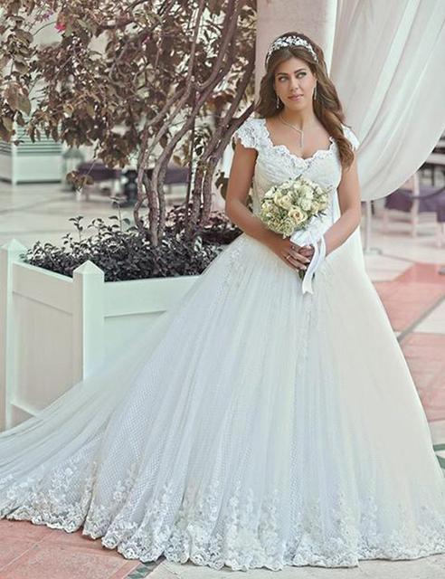 Latest Fashion Saudi Arabian Wedding Dress Ball Gown Cap Sleeve ...