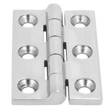 2Pcs 6 Holes Stainless Steel Ball Bearing Butt Hinge Home Door Hardware Accessories hinges antique door hinges stainless steel black hinges for door high quality mute bearing flat hinges 4 inch