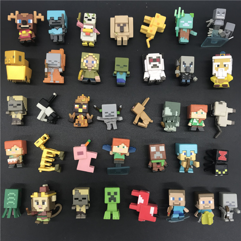 AOSST Game-Toys Building-Blocks Collection Minecraft Classic Figure--Choose Your-Favourit--Steve