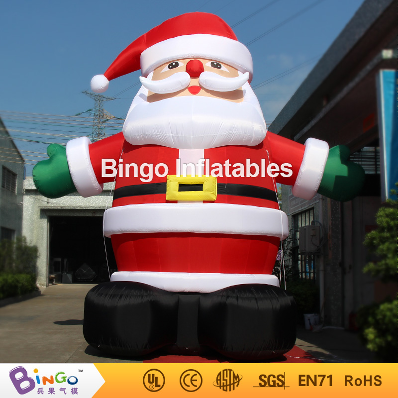 20ft high(6m high) outdoor christmas santa claus inflatable factory direct sale BG-A0344 toy 5m high big inflatable christmas santa claus climbing wall decoration 16ft high china factory direct sale festival toy