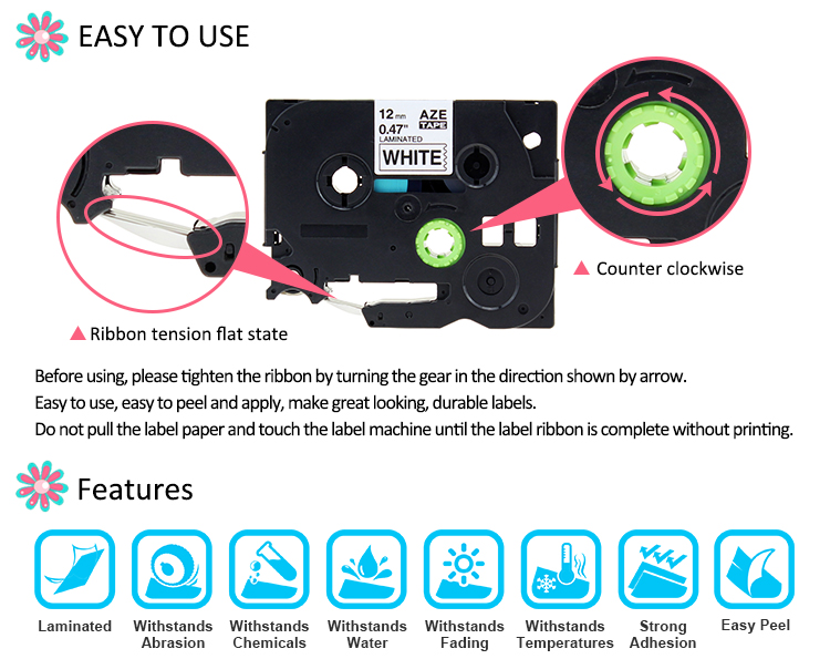 IsMyStore: Labelife 1Pcs 24mm tze-251 Compatible with Brother P-touch label printer PT-D600 TZe251 TZ251 TZe 251 for PT-P700 label maker
