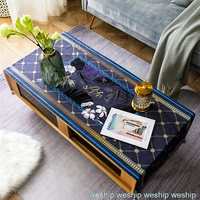 Fashion Home Nordic style cotton Rectangle tablecloth purple gold tablecloth Table flag Tea table cover
