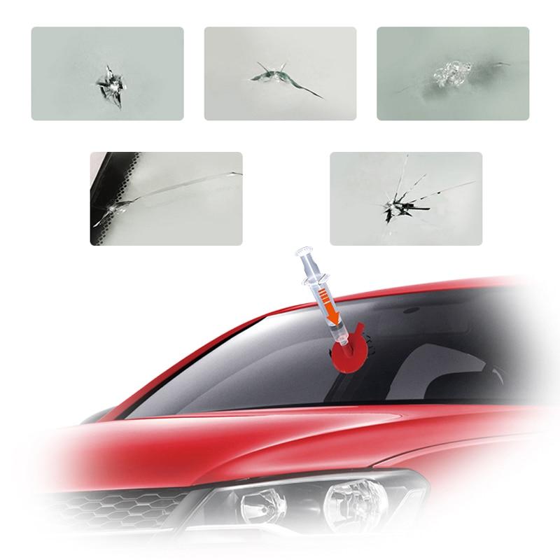 VISBELLA Kit di riparazione vetri per parabrezza per auto Ripristino - Set di attrezzi - Fotografia 3