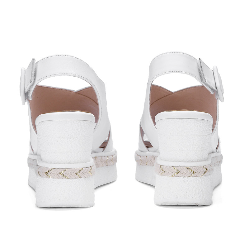 Sandalias Zjvi Plateforme Sandales blanc Sandale Talons 2019 Appartements Noir Chaussures Cheville Femme Coins jaune D'été Véritable En À Sexy Sangle Cuir Femmes rxXzqCwr