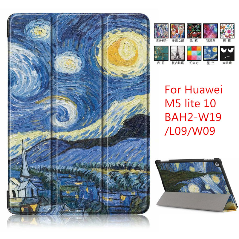 Tablet Accessories Sunny Walkers Case For New Huawei M5 Lite10 Inch Tablet For Mediapad M5 Lite 10.1 Bah2-l09/w19 Dl-al09 Smart Cover Case Black To Adopt Advanced Technology Computer & Office