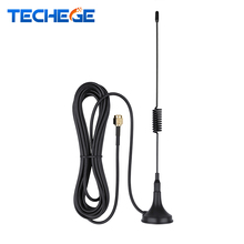 1PCS Wifi Antenna 2.4G 3dbi hing gain Sucker antenna 3 meters extension cable Work for WIFI Camera Wireless cameras