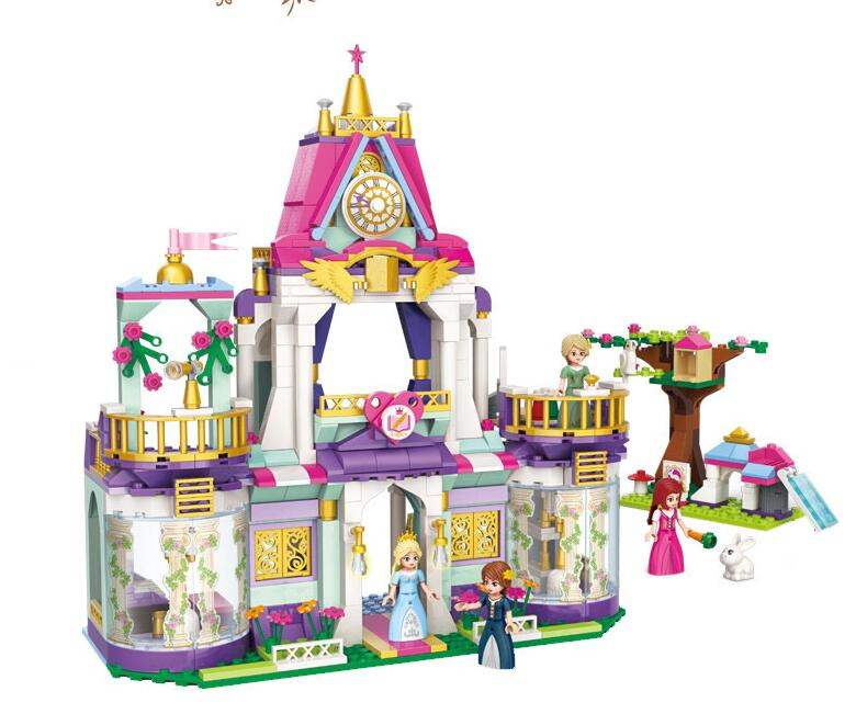 Royal Winston College Sets kits 628 pcs Compatible with in building Blocks girl friends Series Model Brick Toy For Children