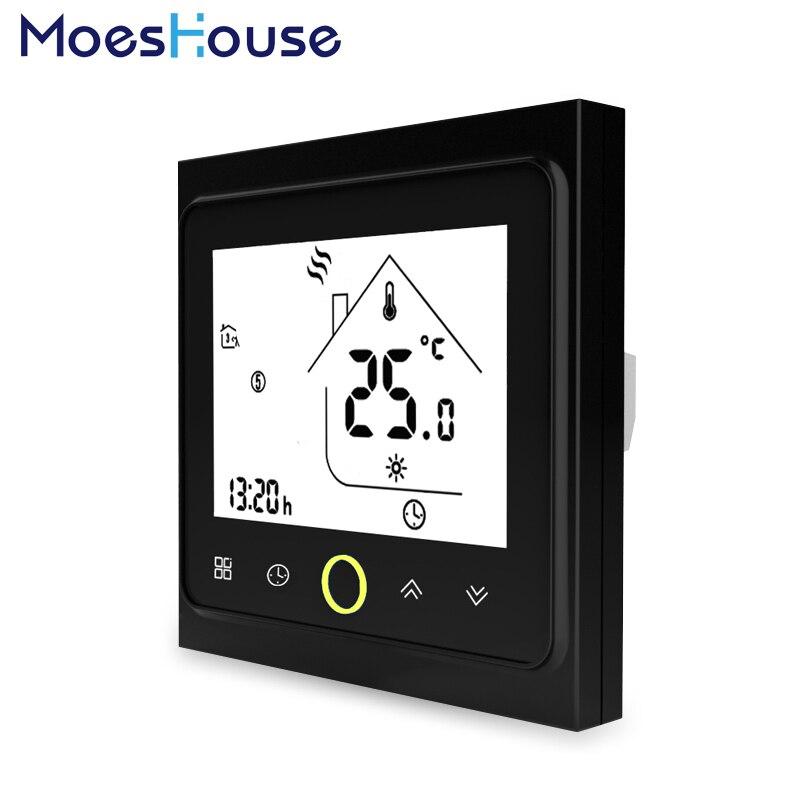 Controlador de Temperatura termostato LCD Backlight Tela Sensível Ao Toque para Aquecimento Eléctrico 16A Semanal Programável