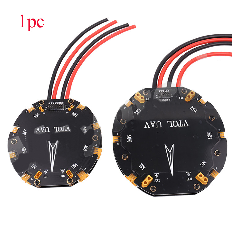 Yuenhoang 1PC 12S 480A V6/V8 High Large Current Power Distribution Board with XT30U Plug for Plant UAV Hexacopter Octocopter Acc