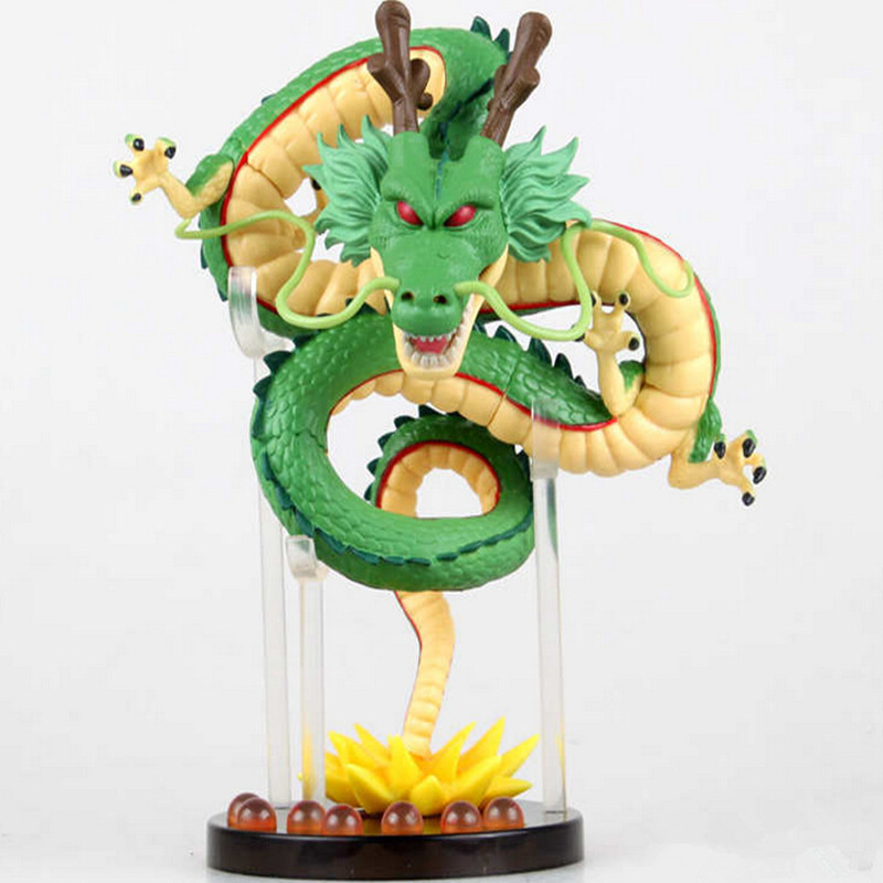 Dragon Ball Z Figures Toys PVC Golden Shenron 150mm Anime Dragonball Action Figure DBZ Collectible Model Toys banpresto wcf dragon ball shenron pvc action figures 14cm dragon ball z mega shenron collectible model toy figuras dbz dragon